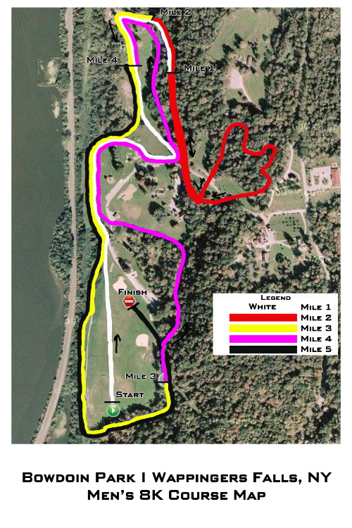 2011 SUNYAC Cross Country Championships - Bowdoin Park Men\'s 8K Map ...