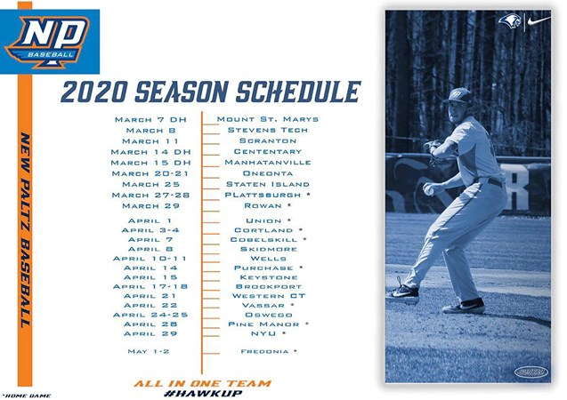Suny Oneonta Fall 2020 Finals Schedule.Suny New Paltz Baseball Releases 2020 Schedule Suny New
